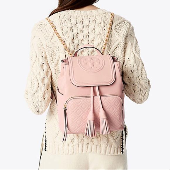 57e27f1e1b66 NWT Tory Burch Authentic Fleming Backpack